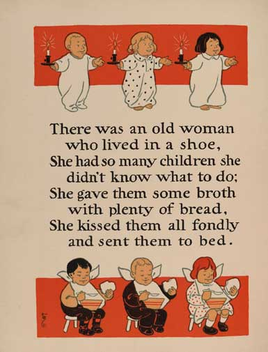 The Old Lady Who Lived In A Shoe Rhyme