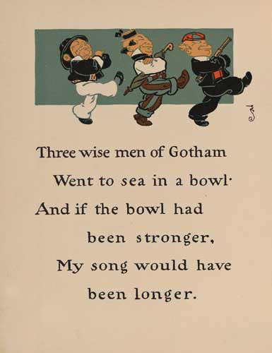 illustration for Wise Men of Gotham Nursery Rhyme