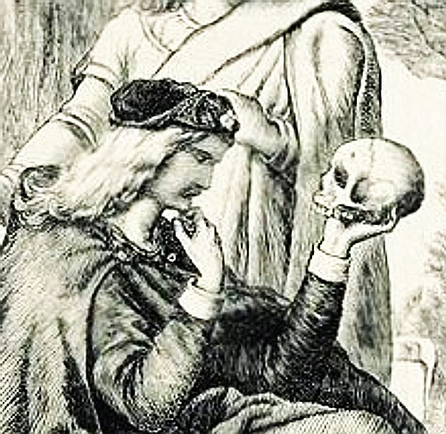 Hamlet with Yorick's Skull by Henry Courtney Selous (1803-1890)