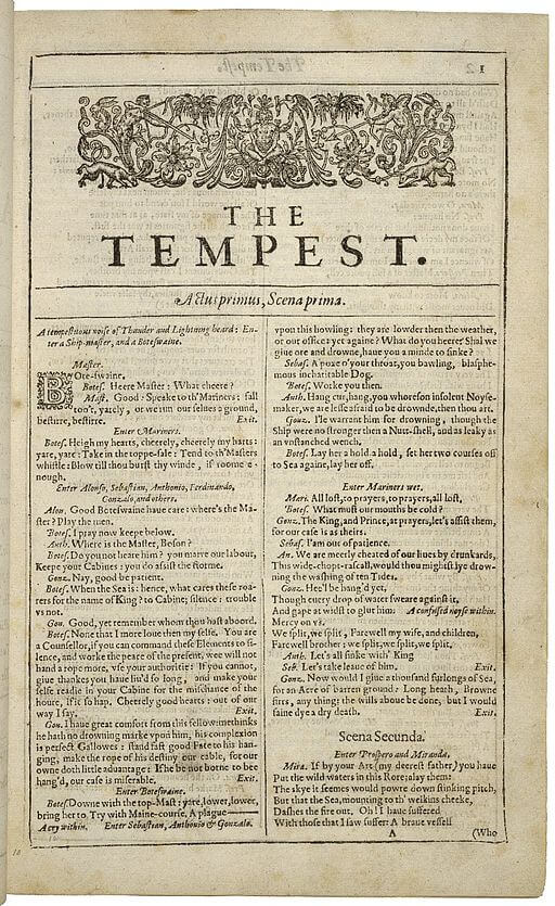 The Tempest frontis