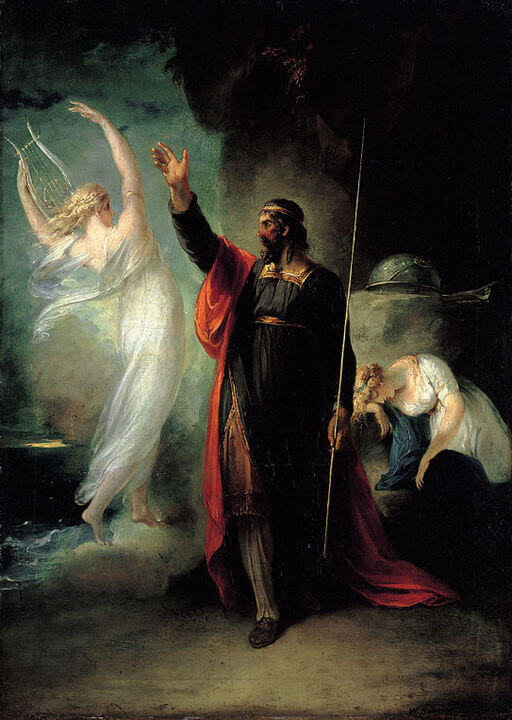 William Hamilton, Shakespeare's The Tempest, Prospero and Ariel, 1797