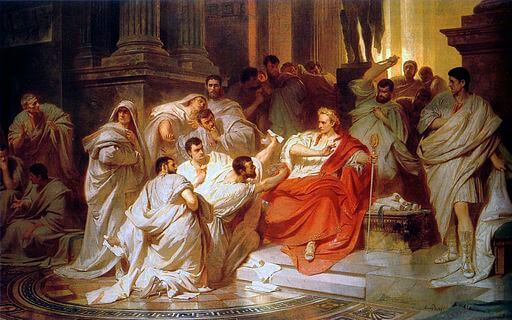 Karl von Piloty, The Tragedy of Julius Caesar, murder, 1865