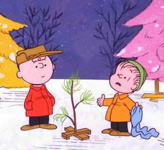 An illustration for the story The True Meaning of Christmas (recited by Linus) by the author Anonymous