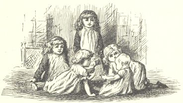 An illustration for the story A Game of Fives by the author Lewis Carroll
