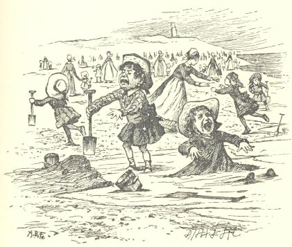 An illustration for the story A Sea Dirge by the author Lewis Carroll