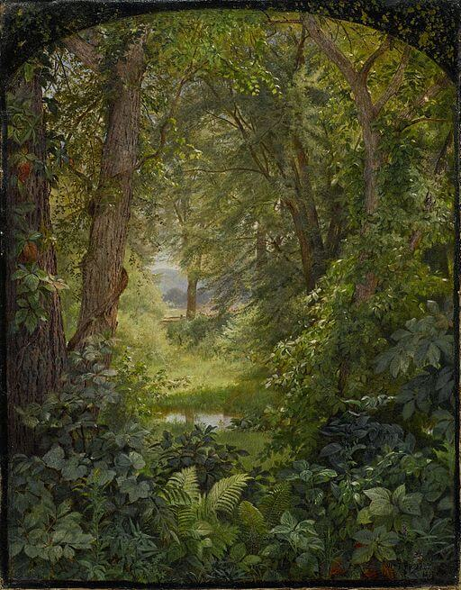 William Trost Richards, Woodland landscape, 1860