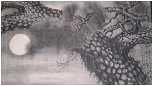 An illustration for the story Good Old Moon by the author Li Bai