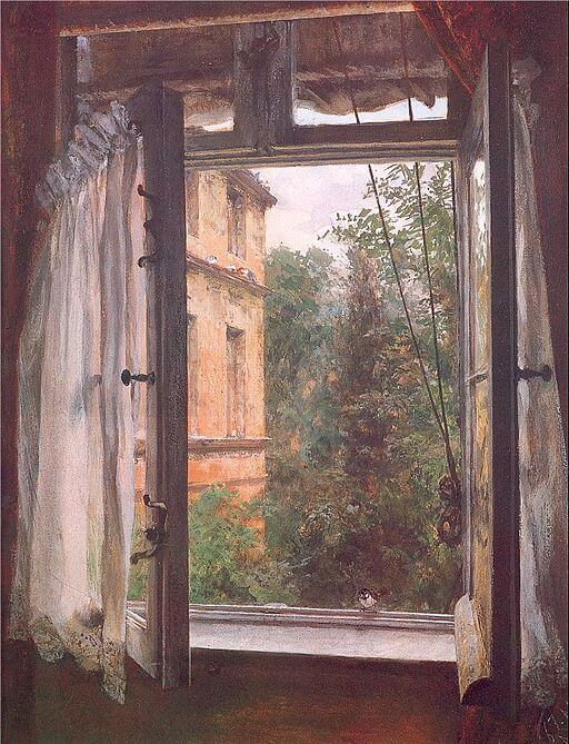 Adolph von Menzel, View from a Window in the Marienstrasse, 1865