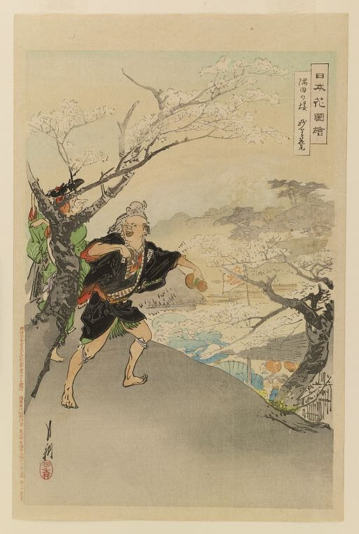 An illustration for the story Drinking With Someone In The Mountains by the author Li Bai