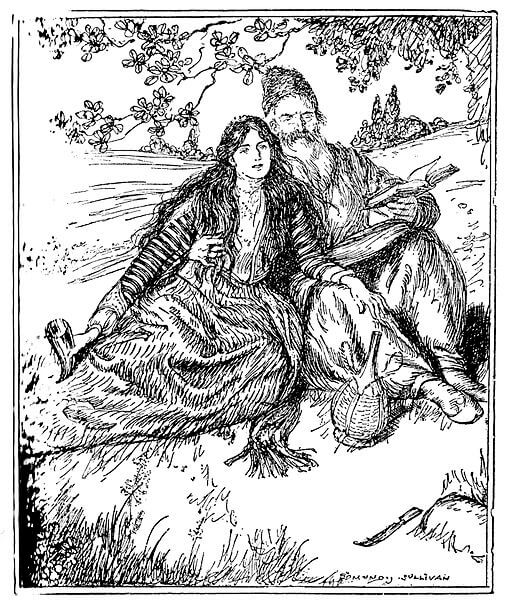 An illustration for the story From Omar Khayyam by the author Edward FitzGerald