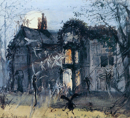 John Anster Fitzgerald, Fairies by Moonlight, Brownies and Banshees, 1875