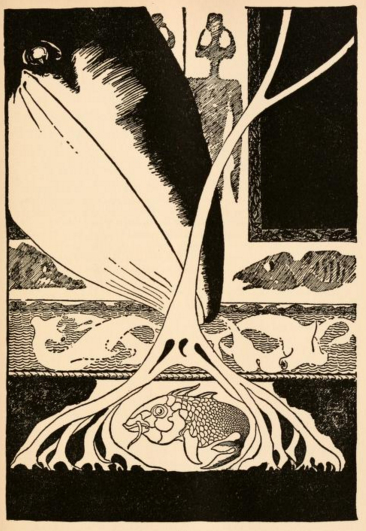 An illustration for the story How The Whale Got His Throat (poem) by the author Rudyard Kipling