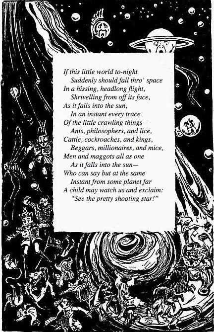 An illustration for the story If This Little World To-Night by the author Oliver Herford