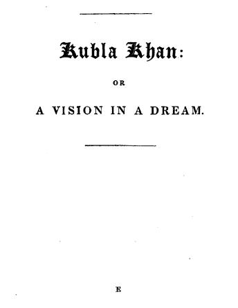 An illustration for the story Kubla Khan: or A Vision in a Dream by the author Samuel Taylor Coleridge