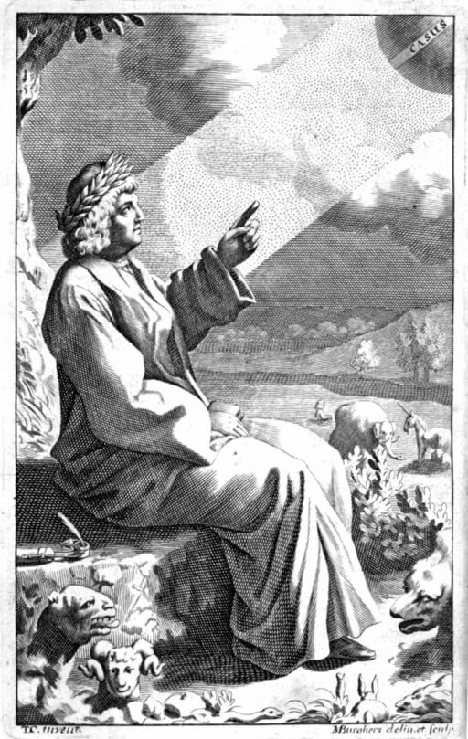An illustration for the story Lucretius by the author Alfred Lord Tennyson