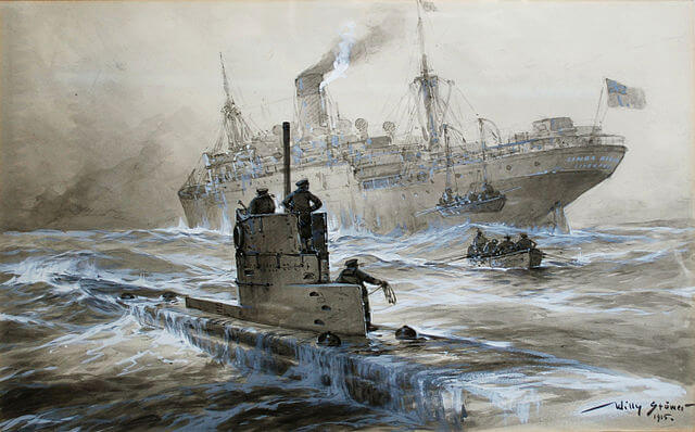Willly Stower, German U-21 sinking Linda Blanche, 1915