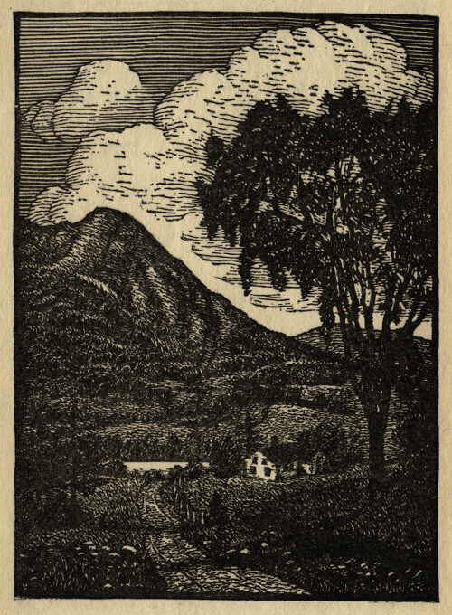 An illustration for the story New Hampshire by the author Robert Frost
