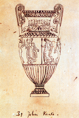 An illustration for the story Ode on a Grecian Urn by the author John Keats