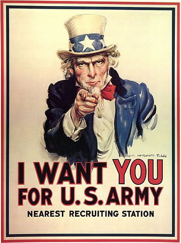 Over There: Uncle Sam Wants You!