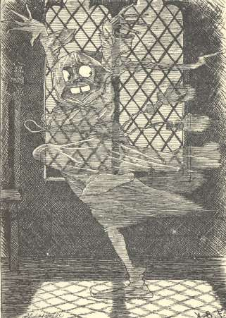 An illustration for the story Our Little Ghost by the author Louisa May Alcott