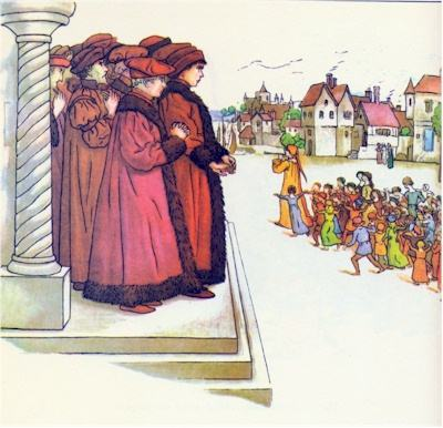illustration for The Pied Piper of Hamelin 35