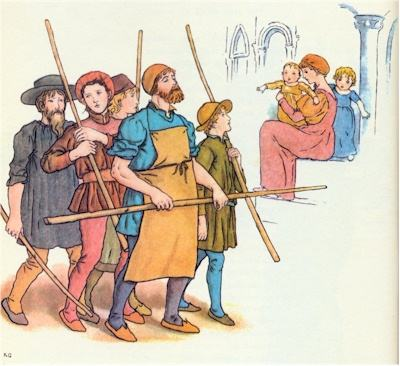 illustration for The Pied Piper of Hamelin 15