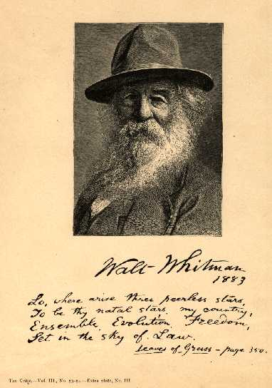 An illustration for the story Song of Myself by the author Walt Whitman