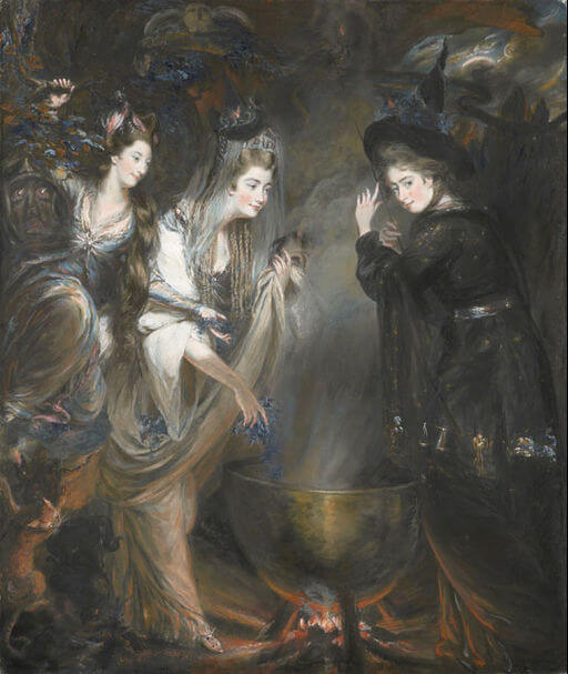 An illustration for the story Song of the Witches (Macbeth) by the author William Shakespeare