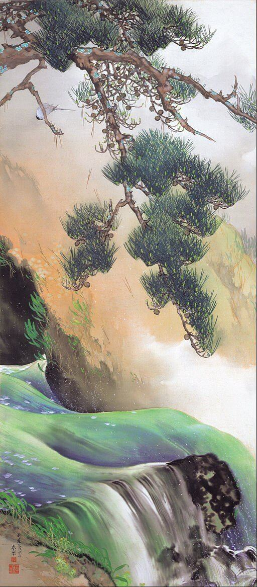 An illustration for the story The Cold Clear Spring At Nanyang by the author Li Bai