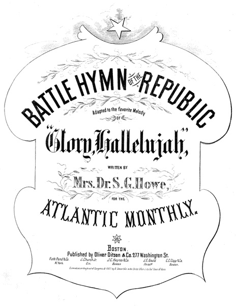 An illustration for the story The Battle Hymn of the Republic by the author Julia Ward Howe