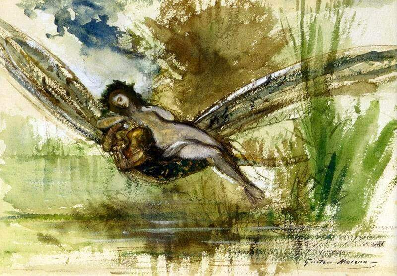 An illustration for the story The Dragon-Fly by the author Edna St. Vincent Millay