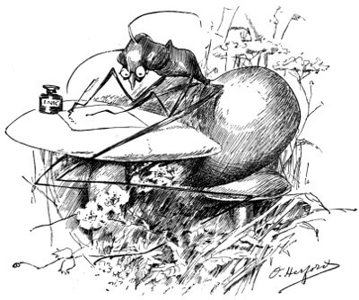 An illustration for the story The Gifted Ant by the author Oliver Herford