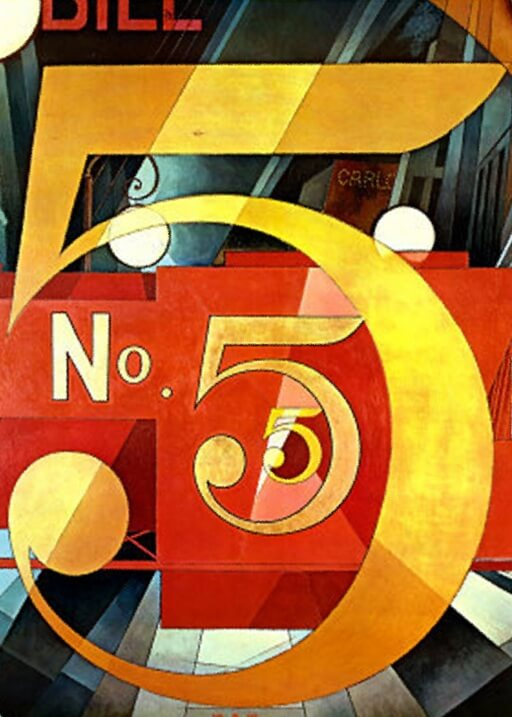 Charles Demuth, The figure 5 in gold, 1928