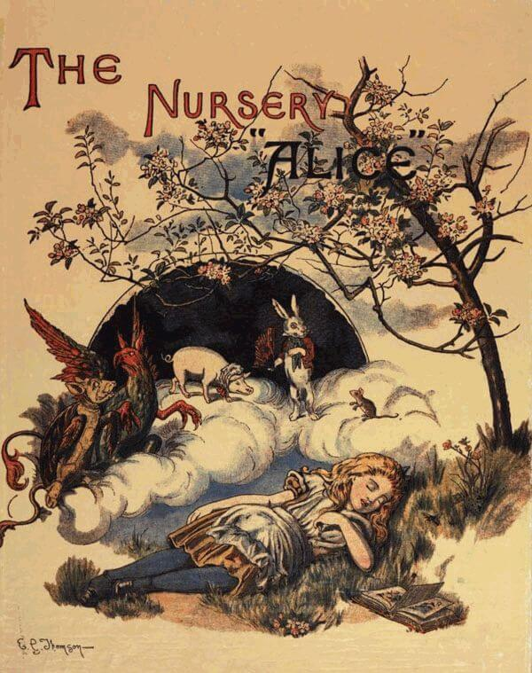 An illustration for the story A Nursery Darling by the author Lewis Carroll