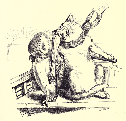 illustration for The Owl and the Pussy-Cat 3