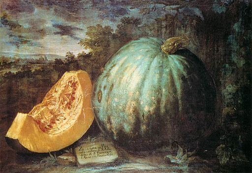 An illustration for the story The Pumpkin by the author John Greenleaf Whittier