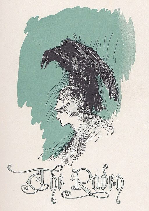 The Raven study guide: illustration by John Rea Neill, 1910