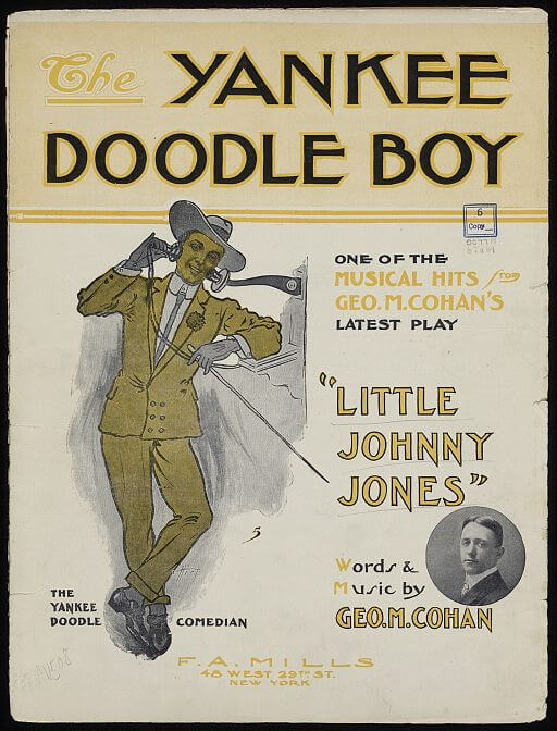 An illustration for the story Yankee Doodle Dandy by the author George M. Cohan
