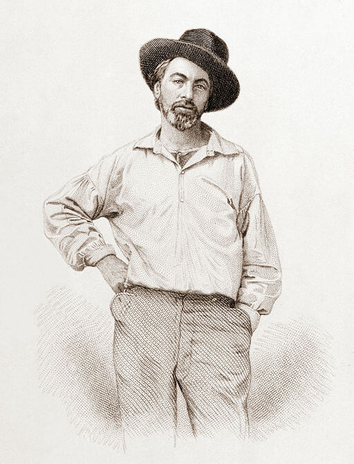 Walt Whitman: Song of Myself, image in 1857 at 37 years old