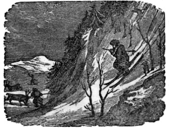 An illustration for the story Nils Finn by the author Bjørnstjerne Bjørnson