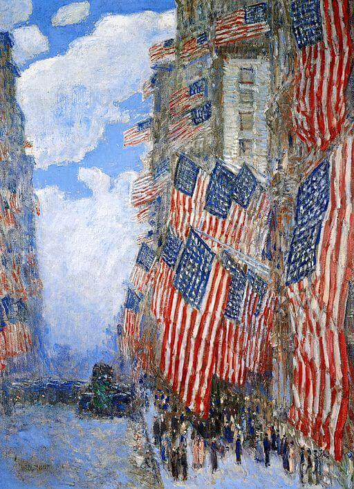You're A Grand Old Flag: Childe Hassam, 1916