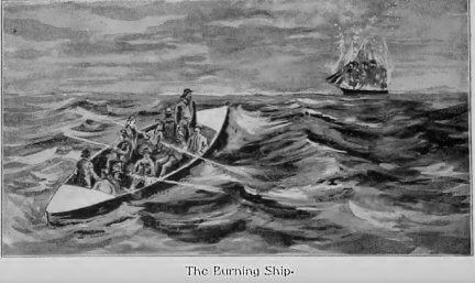 Rounding Cape Horn and other stories, A Dangerous Cargo, burning ship