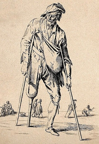 An illustration for the story The Passing of Peg-Leg by the author Andy Adams
