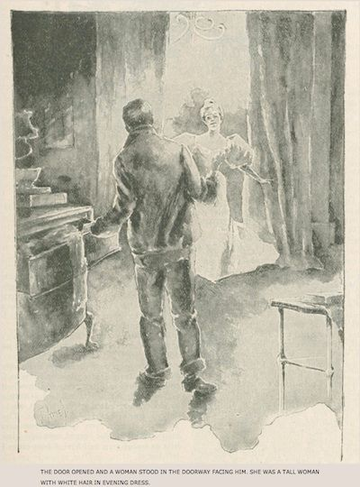 An illustration for the story A Burglar's Christmas by the author Willa Cather