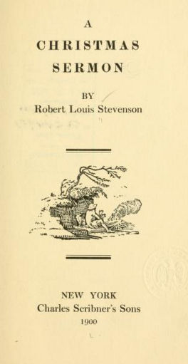 An illustration for the story A Christmas Sermon by the author Robert Louis Stevenson