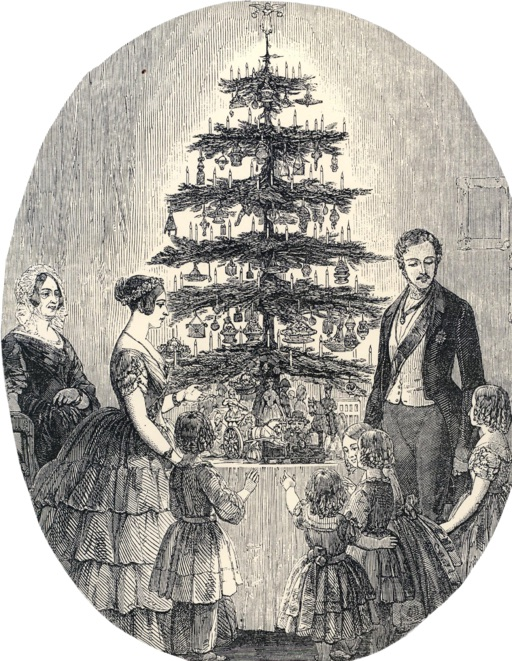 An illustration for the story A Christmas Tree by the author Charles Dickens