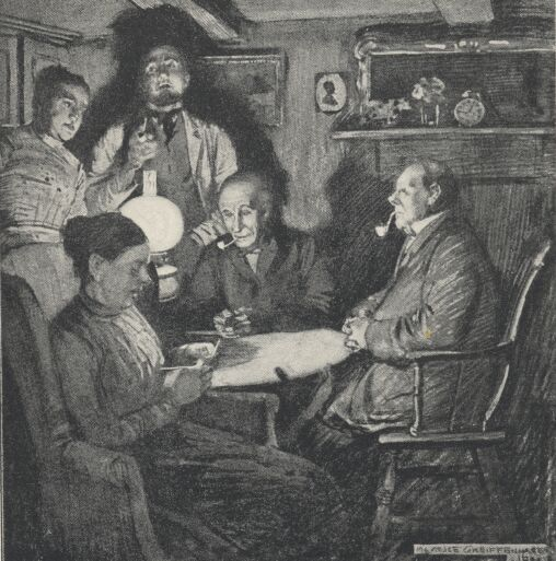 An illustration for the story A Golden Venture by the author W. W. Jacobs
