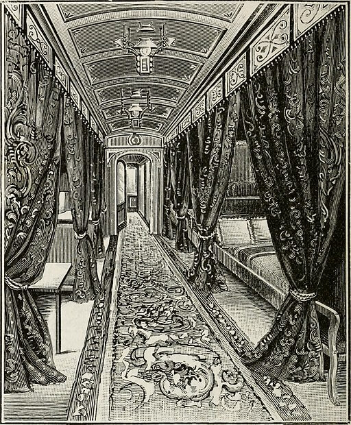 An illustration for the story A Journey by the author Edith Wharton