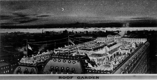 A Midsummer Knight's Dream, Hotel Astor rooftop garden, Times Square, 1904