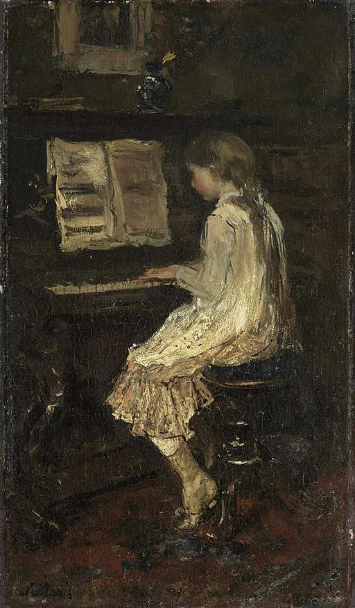 A Mother: Jacob Maris, Girl at the Piano, 1879'
